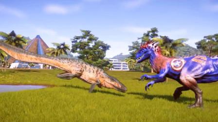 侏罗纪世界:鱼龙也跳上岸了;还要与刺龙来个决斗