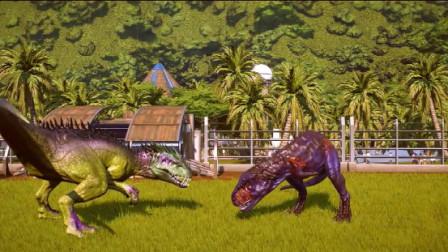 侏罗纪世界:刺龙大战巨兽龙,打的满是伤痕