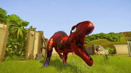侏罗纪世界:恐龙打架还要挑个凉快的地方