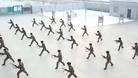 超震撼!北疆武警官兵热血训练实拍 天寒动地战士们热情丝毫不减