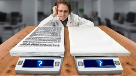 写满字的纸VS白纸,哪个重量更大?老外实测太意外了