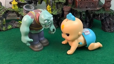小宝宝走丢了,巨人僵尸帮他找妈妈,巨人僵尸做了件好事