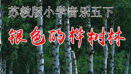 苏教版小学音乐五年级下册《银色的桦树林》