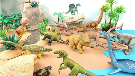 动手搭建恐龙乐园放置小恐龙玩具