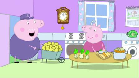 小猪佩奇:佩奇一家路上堵车,绕了一大圈,又回到原地