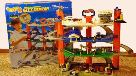 城市中心多层环绕公路玩具拆盒