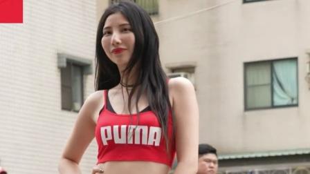 美女模特,街头舞蹈表演