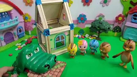 马上下雨了,鸡妈妈能把房子盖好吗?