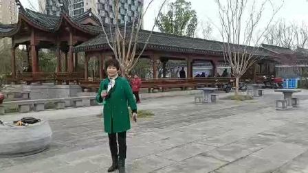 2021年3月3日,西塘公园《越剧》大雪纷飞,汪茶芽演唱,甬闻录制。