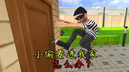 疯狂小偷:为了不让小偷进我家,我想到了一个好办法!