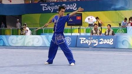 北京2008武术套路比赛 男子器械 男子棍术 001