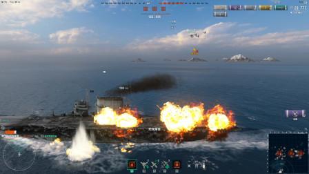 战舰世界:队友全被打沉了,航母被群殴,内心那种绝望谁能体会