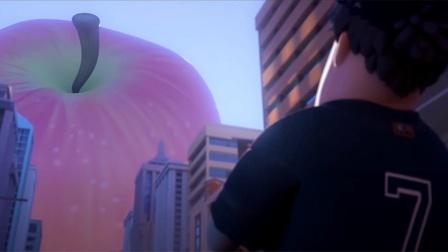 地球被神秘闪电击中,竟缩小了1亿倍,一个苹果就能毁灭地球!