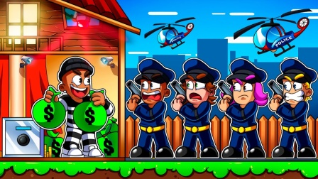 Roblox银行故事:守卫也怕香蕉皮!成功打开超级金库!