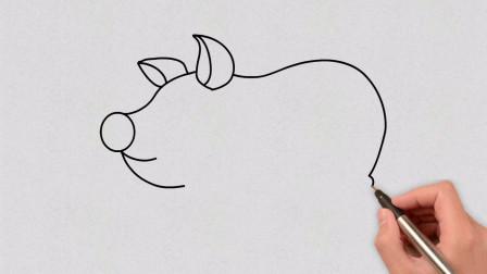 猪的简笔画,简单好画!