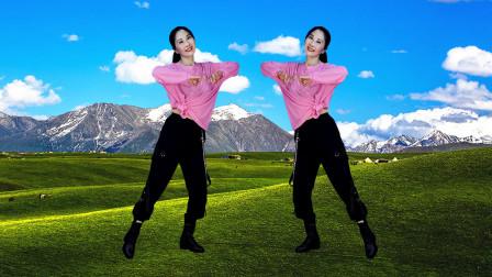 玖月广场舞《可可托海的牧羊人》正背面演示附分解》网络红歌 简单好看