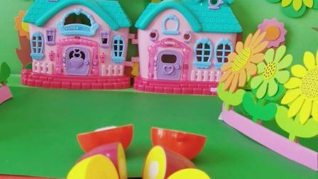 少儿玩具:蔬菜水果配对合体