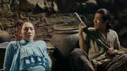 诛仙:碧瑶偷张小凡的棍子,猴子在一旁看笑话,表情真逗!