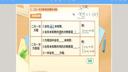 解二元一次方程组(预习)