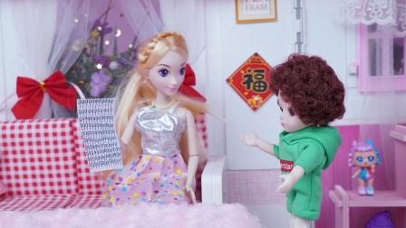 下大雪小明想让妈妈带着去玩雪,但妈妈不想去
