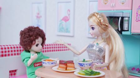 """小明吃完饭写作业,结果发现作业被妈妈给""""炖了"""""""