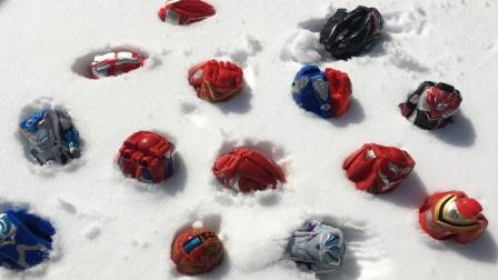 一起解救困在雪地里的奥特曼变形蛋吧