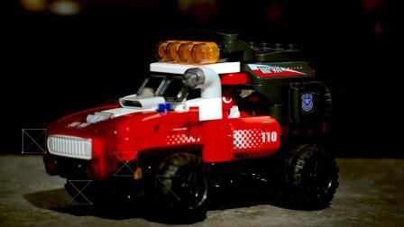 儿童积木玩具体感遥控越野车试玩