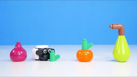 儿童益智动画边玩积木玩具边学英语