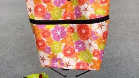 折叠购物袋,出门买菜购物带上这个,方便又省力!