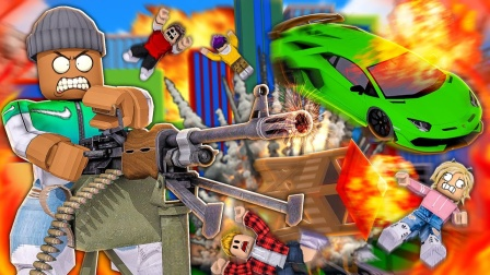 Roblox破坏模拟器:无敌破坏王把游戏机店全部摧毁!