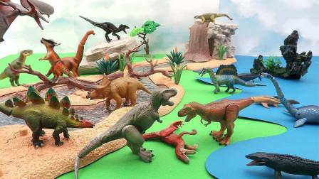 彩色小恐龙模型拆盒