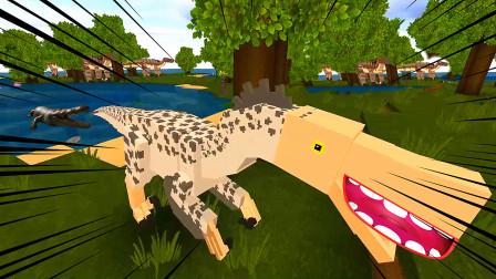 迷你世界:我驯服了一只小恐龙,他还能帮我打架!