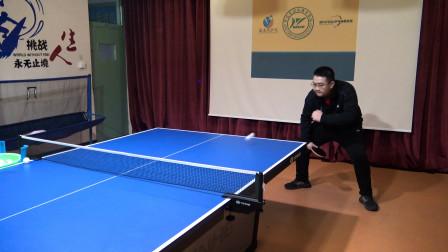 乒乓球球友反手拉下旋球指导,如何让身体和手臂更好地协调发力?