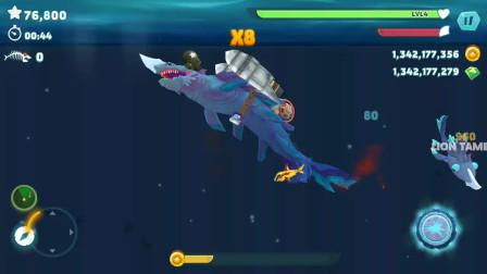 饥饿鲨进化:闪光鲨追击深渊鲨发现深渊鲨鱼消失不见是怎么回事