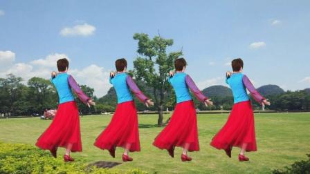 三八女神节特献!广场舞《醉红妆》教学版,桥边那是谁家的红姑娘