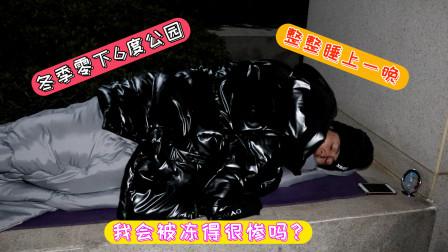 1个人,1条被子,1张垫子,挑战睡零下6度的公园,我会被冻的很惨吗?