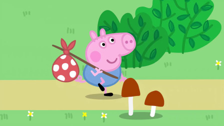 小猪佩奇:乔治太饿了,看到粥就喝,变成了高大的巨婴!