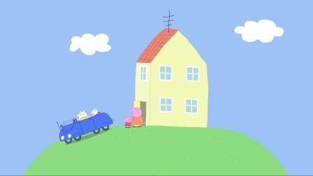 小猪佩奇:佩奇一家吃饭啦,是香香的意面,猪爸爸吃了好多