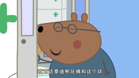 小猪佩奇:棕熊医生太惨了,刚刚教孩子们急救,他自己就受伤了