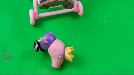 僵尸占了乔治的婴儿车,警察就抓走了僵尸,僵尸真是太坏了