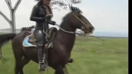 皮衣皮靴美女狠骑马