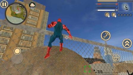 蜘蛛侠绳索英雄,飞身翻墙,开走敌人直升飞机