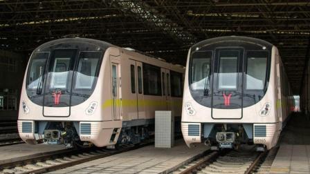 【广州地铁】广州地铁8号线A6型增购车文化公园站上行出站(中车时代电机牵引系统)