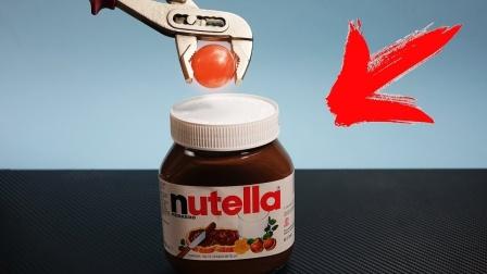 1000度铁球放在巧克力上会怎样?老外实测,一口下去简直了!