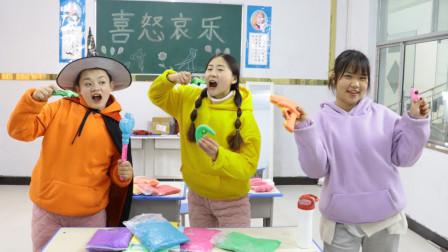柚柚变身魔法师,把同学的黏土玩具变成真的,太厉害了