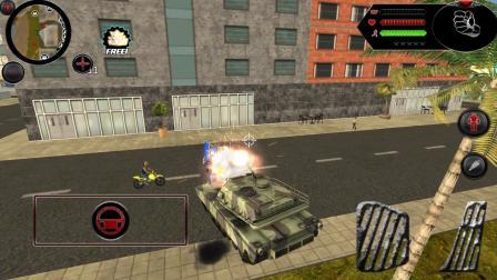 变形机器人英雄,坦克从高空降落,一炮打爆机器人
