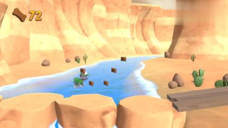 救援游戏 汪汪队灰灰开车无法爬上山顶,只能制作梯子登上山