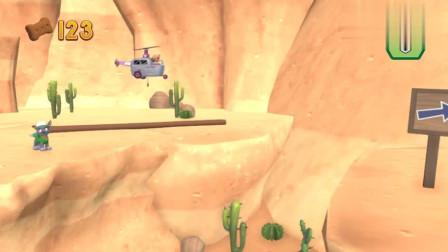 救援游戏 汪汪队灰灰被困在荒山上,天天架一座桥帮他下山