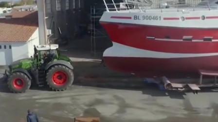 为什么重型拖拉机可以运输私家游艇?
