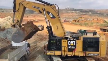 为什么挖掘机喜欢站在高台上装车作业?